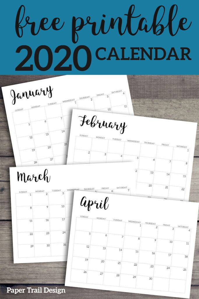 Free Printable Monthly Planner Template 2020 Calendar Printable Free Template