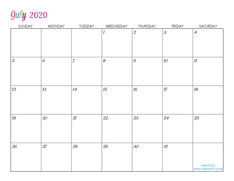Free Printable Monthly Planner Template Custom Editable 2020 Free Printable Calendars