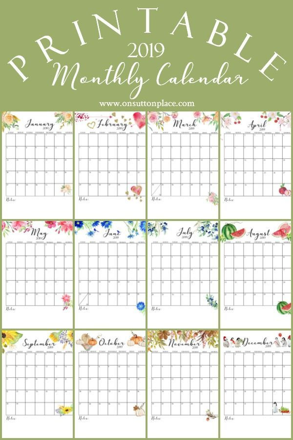 Free Printable Monthly Planner Template Free Printable Calendar 2019 Monthly Calendar