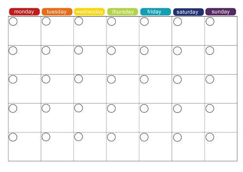 Free Printable Monthly Planner Template Monthly Menu Plan Printable Picklebums