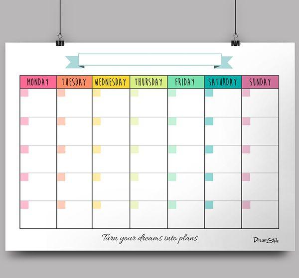 Free Printable Monthly Planner Template Monthly Templates In High Pdf Files to Be Printed On