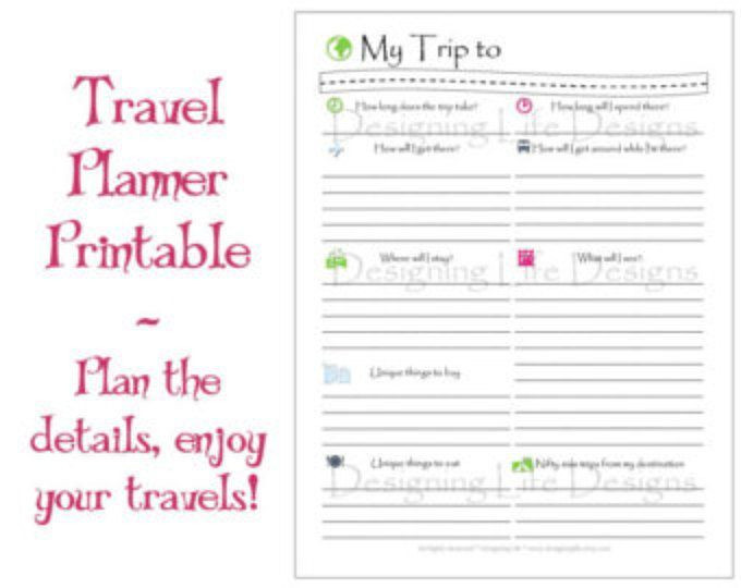 Free Printable Vacation Planner Template In Season Fruit and Ve Able List Meal Planning Printable