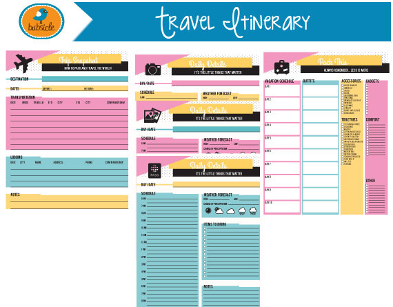 Free Printable Vacation Planner Template Item Overview • Handmade Item • Emailed From Lincoln Ne