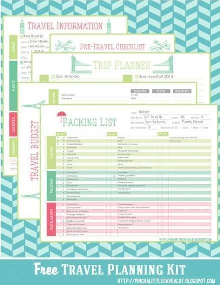 Free Printable Vacation Planner Template Pin Auf Otis Purdy