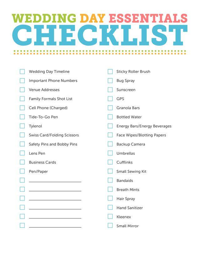 Free Wedding Plan Template the Grapher S Wedding Day Essentials Kit