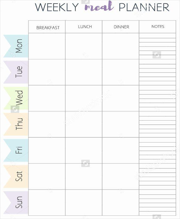 Free Weekly Meal Planner Template Monthly Meal Plan Template Awesome Meal Planner Template