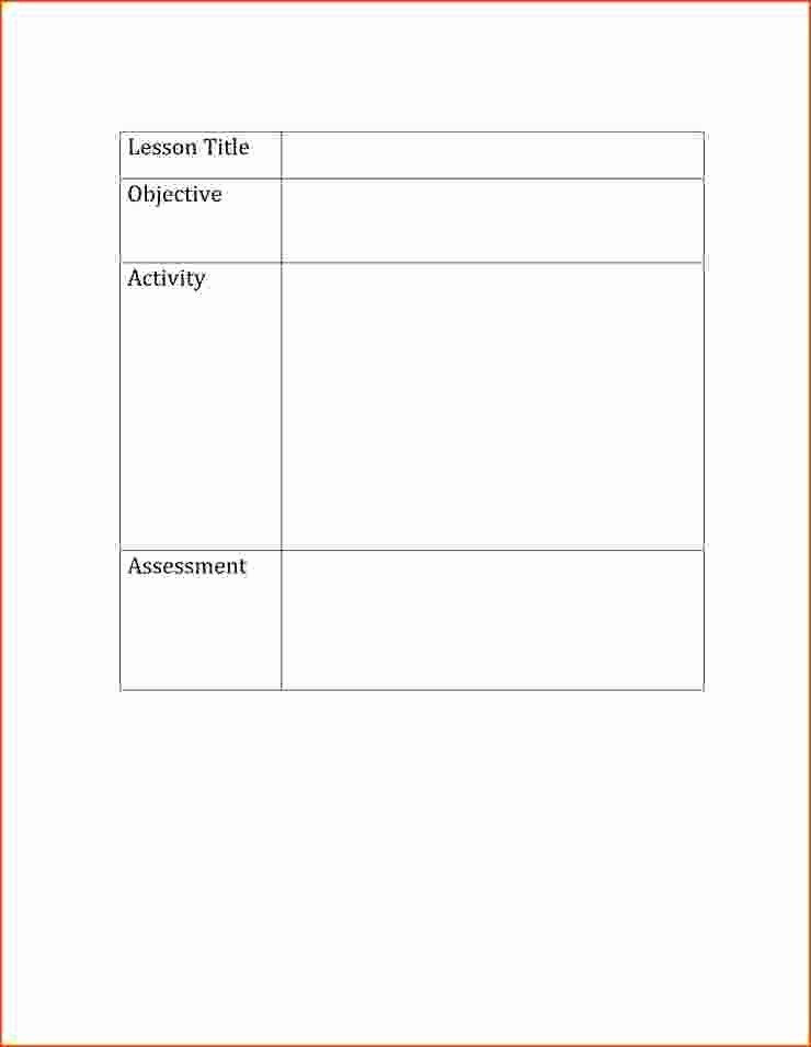 Fundamental 5 Lesson Plan Template Basic Lesson Plan Template Elegant 5 Basic Lesson Plan