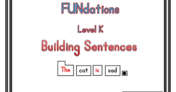 Fundations Lesson Plan Template Fundations Level K Building Sentences From thespecialtyshop