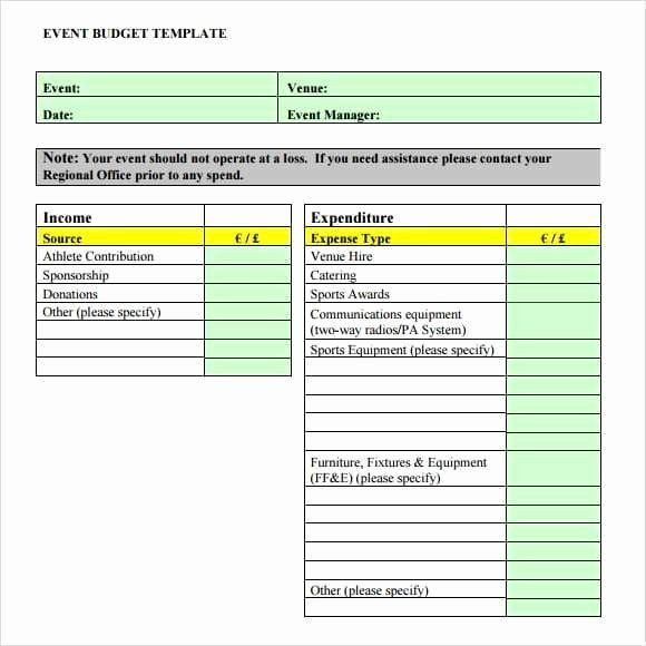 Fundraising Plan Template Excel Fundraising Plan Template Excel Fresh 9 event Bud Templates