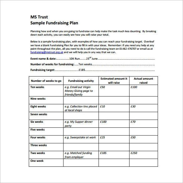 Fundraising Plan Template Excel Fundraising Plan Template Excel Fundraising Plan Template 11