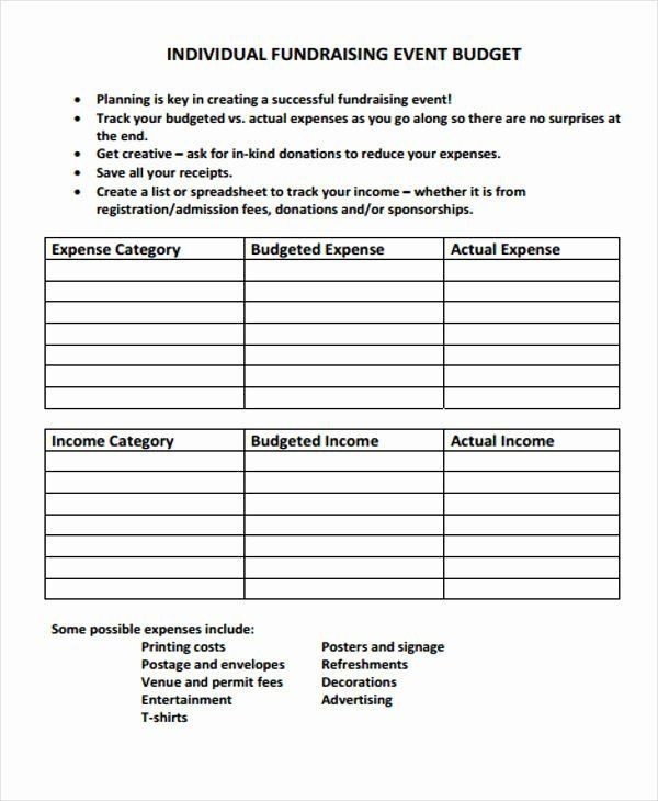 Fundraising Plan Template Excel Fundraising Plan Template Free New Fundraising Bud Templates
