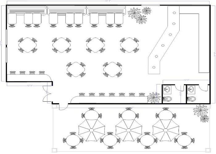 Furniture Template for Floor Plans Coffee Shop Floor Plan Layout