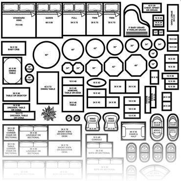 Furniture Template for Floor Plans Floor Plan Furniture Symbols