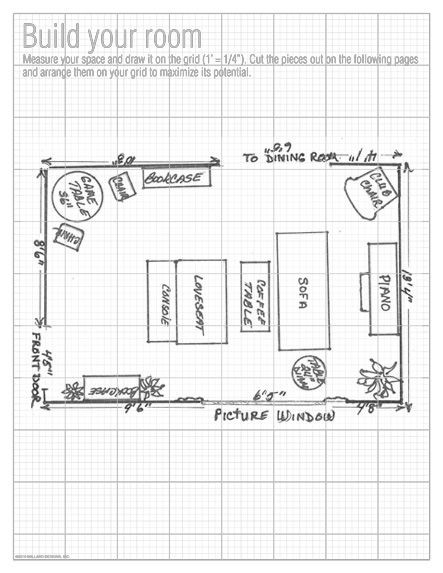 Furniture Template for Floor Plans Floorplan Grid Great for Planning Furniture In the New