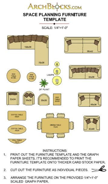 Furniture Template for Floor Plans Free Download Furniture Templates
