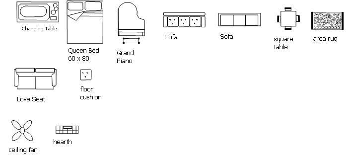 Furniture Template for Floor Plans Free Plans for Furniture