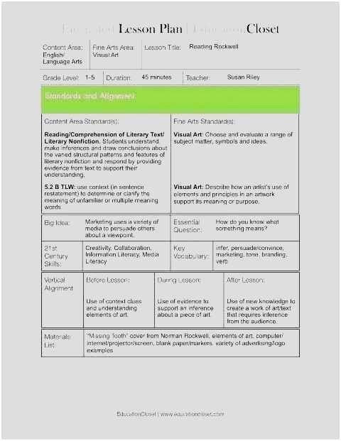 Ganag Lesson Plan Template Marzano Lesson Plan Template Unique Download 40 Marzano