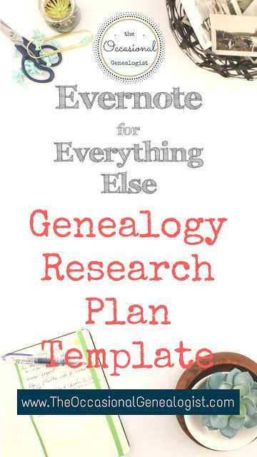 Genealogy Research Plan Template Genealogy Research Plan Template the Evernote Research Plan