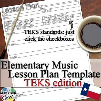 General Music Lesson Plan Template Elementary Music Lesson Plan Fillable Template Teks Version