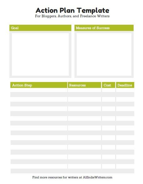 Goal Action Plan Template 10 Effective Action Plan Templates You Can Use now