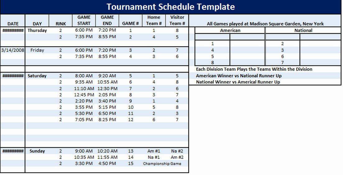 Golf tournament Planning Template Golf Practice Schedule Template Fresh tournament Schedule