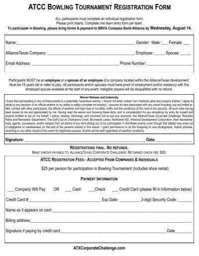 Golf tournament Planning Template Golf tournament Entry forms Template atcc Bowling tournament