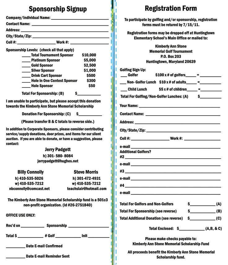 Golf tournament Planning Template Kimberly Ann Stone 4th Annual Memorial Golf tournament