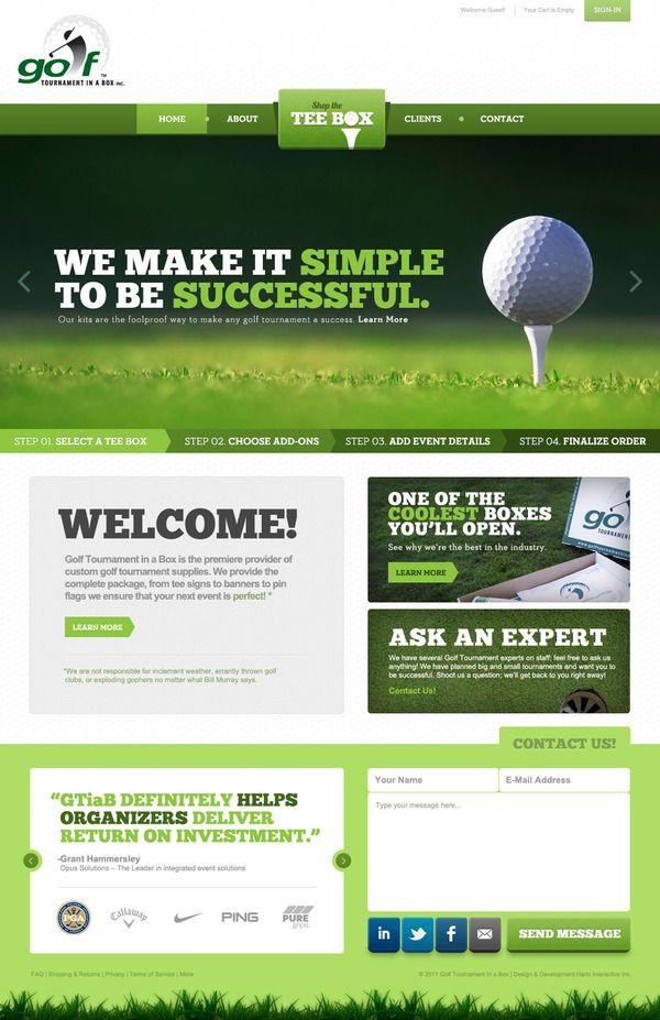 Golf tournament Planning Template Pin On Web Design