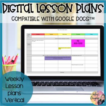 Google Doc Lesson Plan Template Google Doc Weekly Lesson Plan Template In 2020