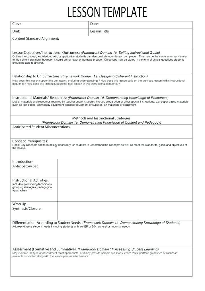 Google Docs Lesson Plan Template 27 Lesson Plan Template Google Docs