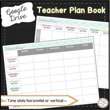Google Docs Lesson Plan Template Google Drive Digital Teacher Planner