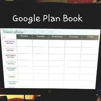 Google Lesson Plan Template Google Teacher Planner Editable by Peas In A Pod