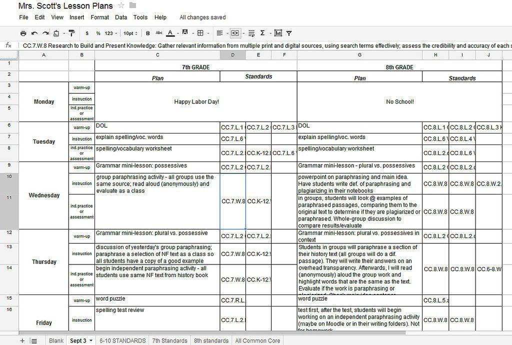 Google Lesson Plan Template Lesson Plan Template Google Docs Inspirational Lesson Plan