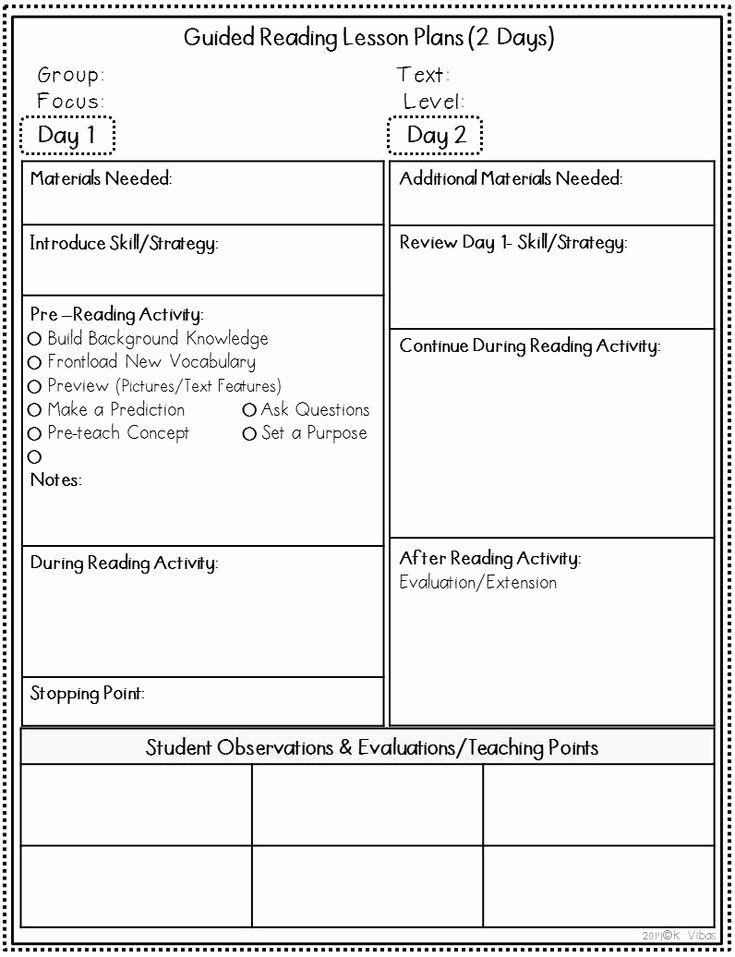 Guided Reading Lesson Plans Template Creating A Lesson Plan Template Lovely 17 Best Ideas About