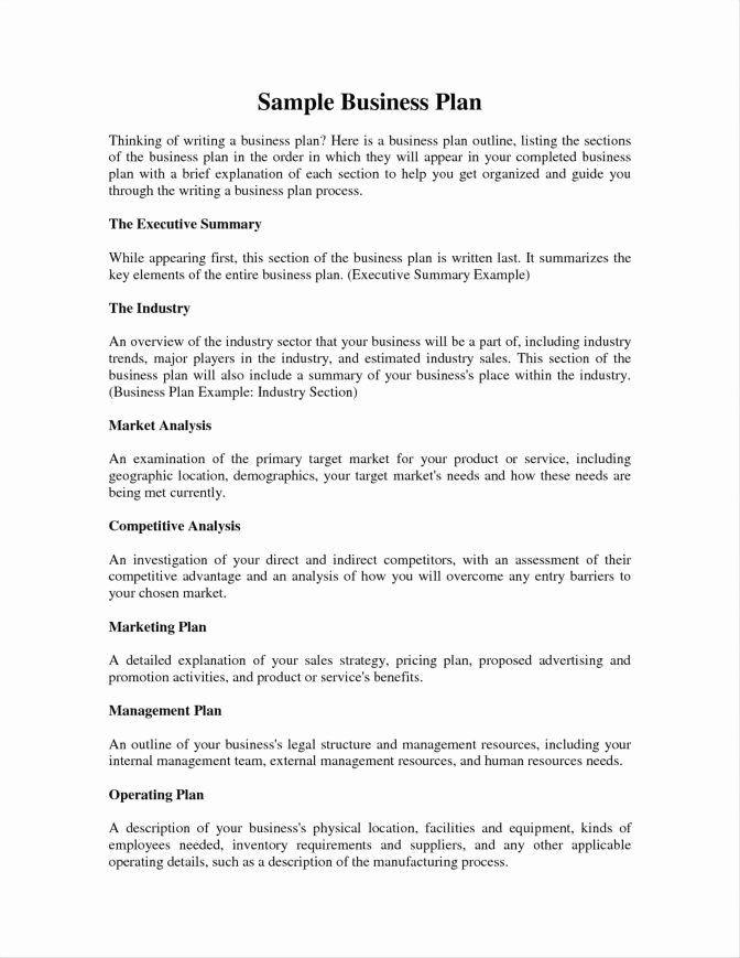 Hair Salon Business Plan Template Hair Salon Business Plans Fresh Example Executive Summary