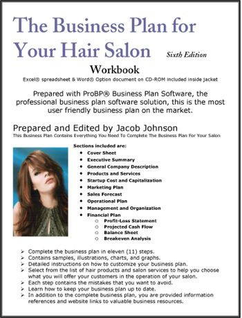 Hair Salon Business Plan Template the Business Plan for Your Hair Salon