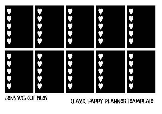 Happy Planner Sticker Template Classic Happy Planner Sticker Template Psd Instant Download