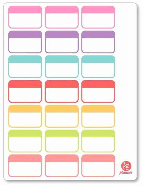 Happy Planner Sticker Template Happy Planner Sticker Template Awesome Label Half Box