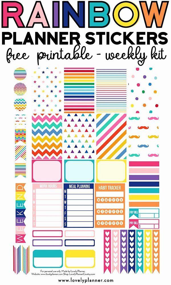 Happy Planner Sticker Template Happy Planner Sticker Template Fresh Free Printable Rainbow