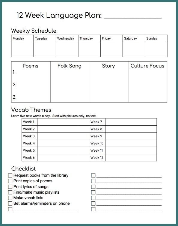Head Start Lesson Plan Template Use This Lesson Plan Template to Structure Your Spanish at