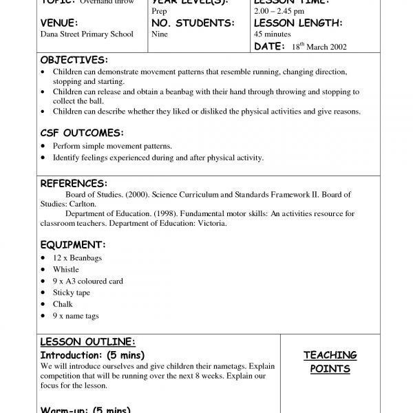 Health Education Lesson Plan Template Pin On Health Education