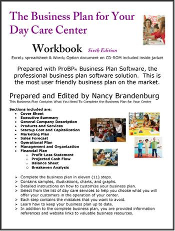 Home Daycare Business Plan Template Day Care Center Business Plan