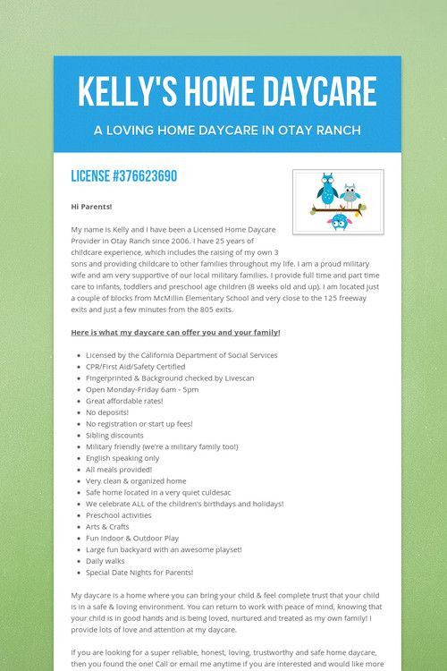 Home Daycare Business Plan Template Pin On at Home Daycare