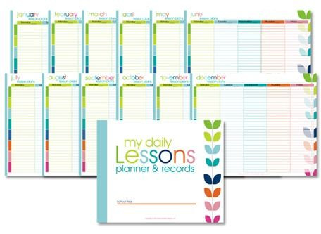Homeschool Lesson Plan Template Free Homeschool Lesson Planner