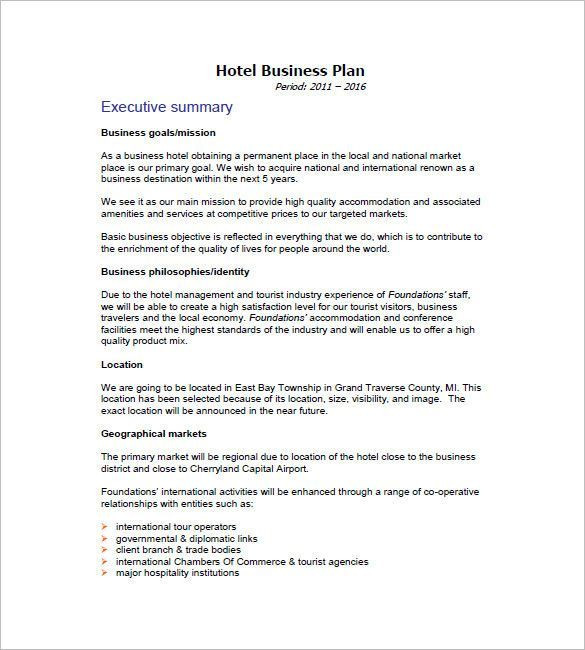 Hotel Marketing Plan Template Google Image Result In 2020