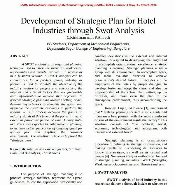 Hotel Marketing Plan Template Hotel Business Plan Pdf Inspirational 7 Hotel Swot Analysis