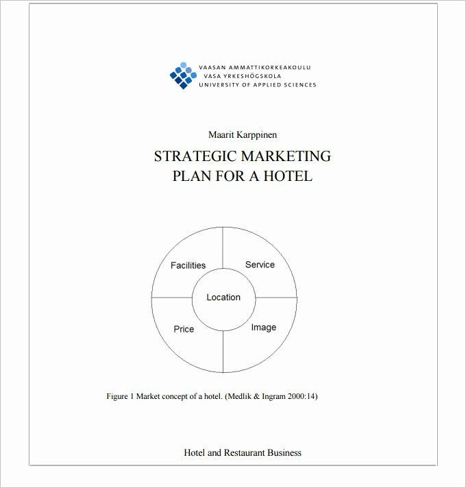 Hotel Marketing Plan Template Restaurant Marketing Plan Pdf New Hotel Marketing Plan