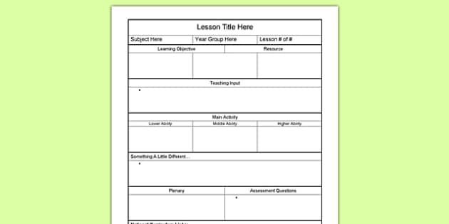 Ib Lesson Plan Template Education Bsl Image by Lorraine Robinson
