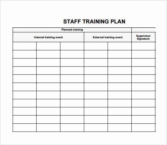 Individual Employee Training Plan Template Individual Employee Training Plan Template Fresh Training