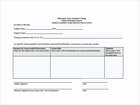Individual Student Action Plan Template Action Plan Template for Students Best 8 Sample School
